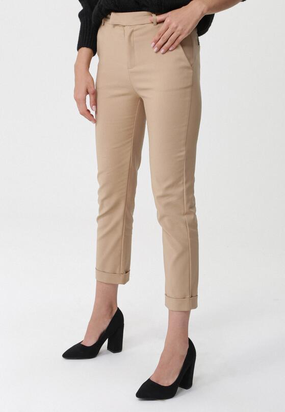 Beżowe Spodnie Cantaloupe