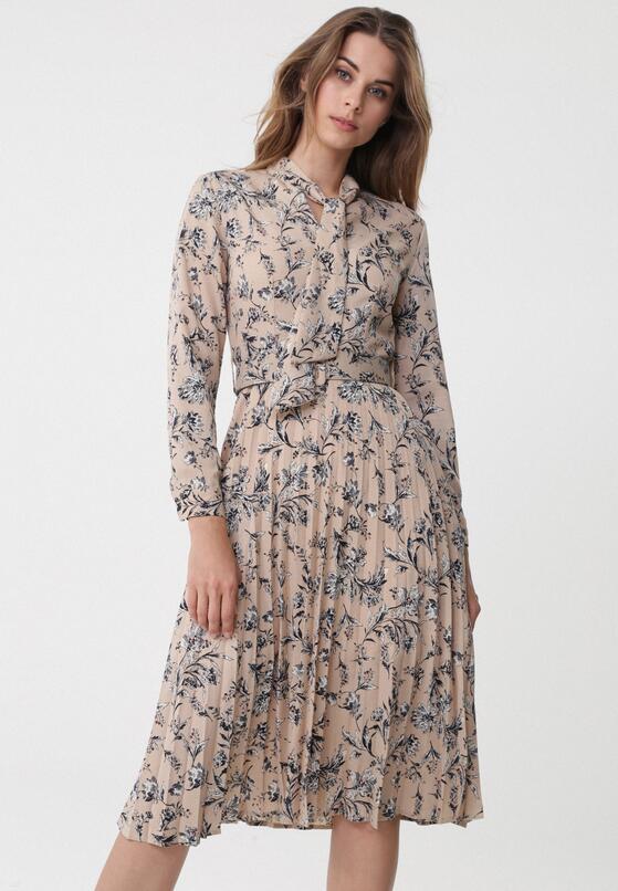 Beżowa Sukienka Turkey