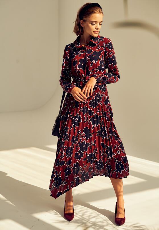 Bordowa Sukienka Kentucky
