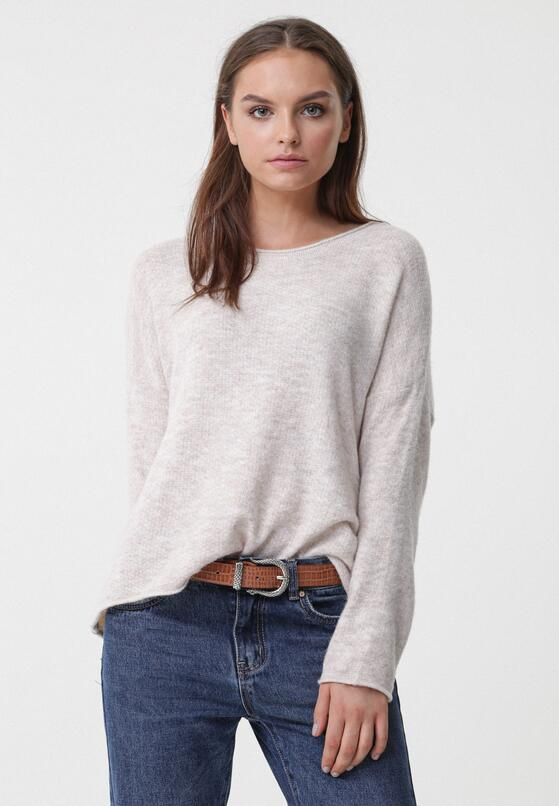Jasnobeżowy Sweter Zen