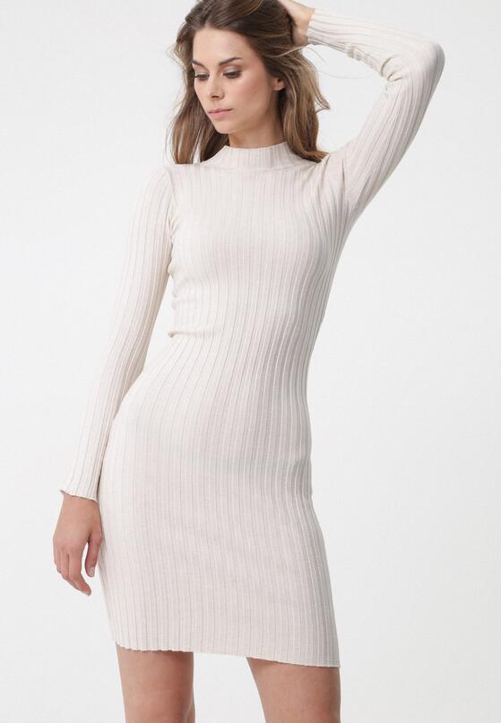 Jasnobeżowa Sukienka Harringay