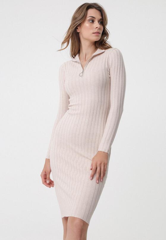 Jasnobeżowa Sukienka Harrow