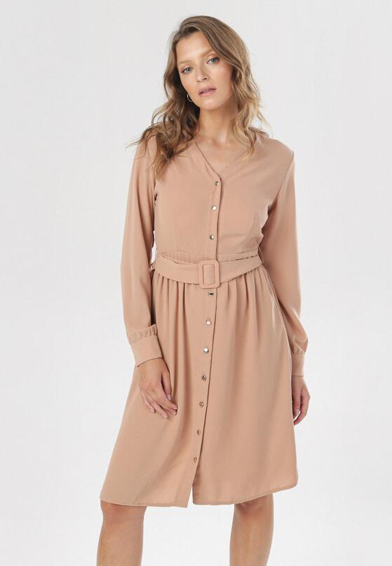 Beżowa Sukienka Torcy