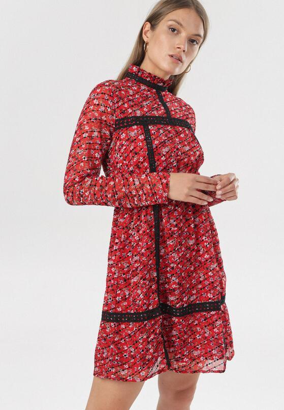 Czerwono-Czarna Sukienka Laon