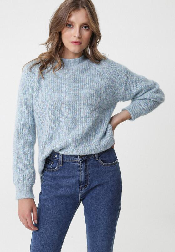 Niebieski Sweter Assis