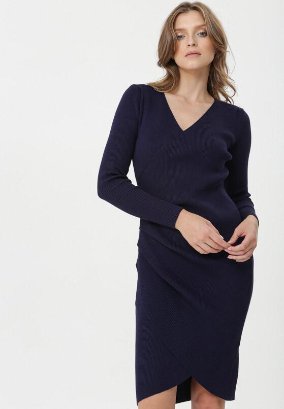 Granatowa Sukienka Atibaia