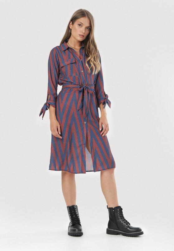 Bordowa Sukienka Jacarei