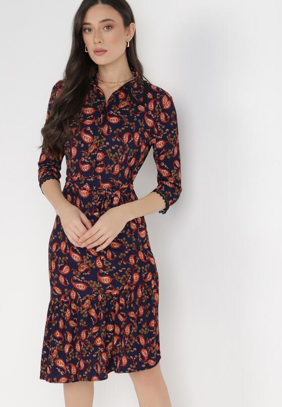Granatowa Sukienka Calvados