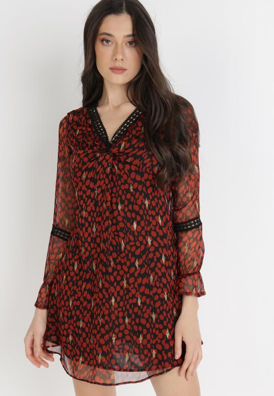 Czarno-Czerwona Sukienka Avilla