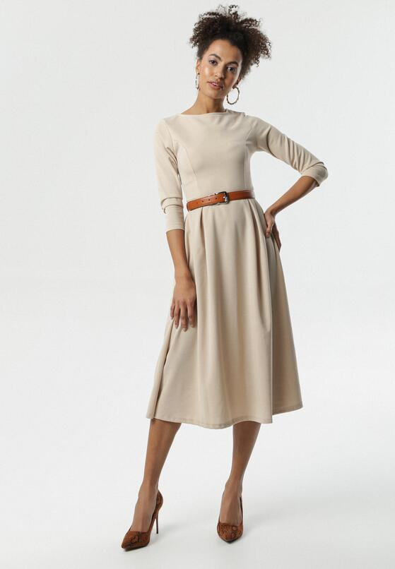 Beżowa Sukienka Portobello