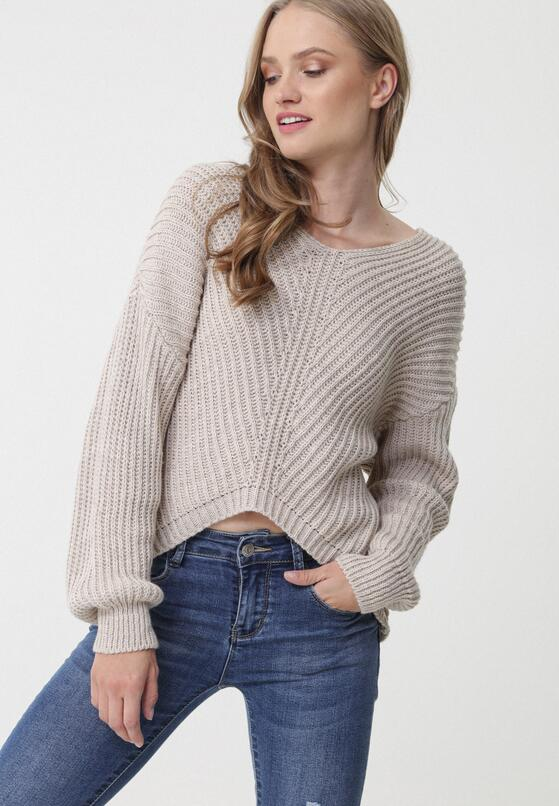Beżowy Sweter Colyton