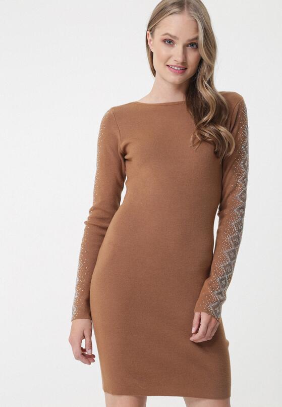 Brązowa Sukienka Kareela