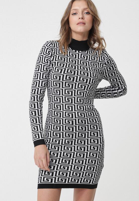 Czarno-Biała Sukienka Leichhardt
