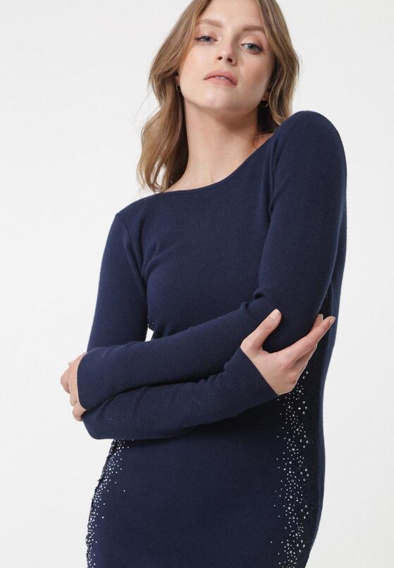 Granatowa Sukienka Lurnea