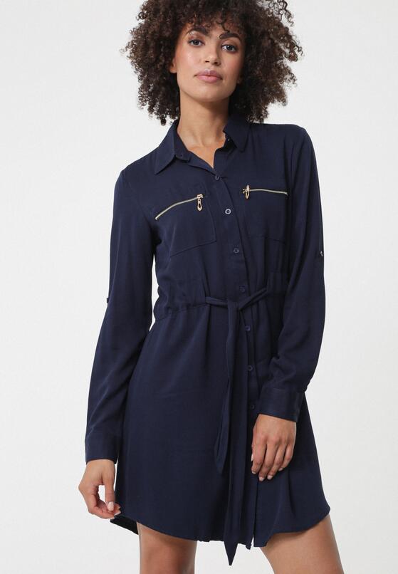 Granatowa Sukienka Turrella