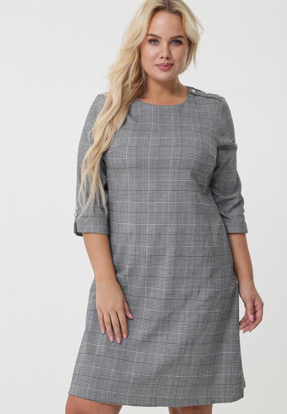 Czarno-Szara Sukienka Marrickville