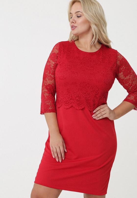 Czerwona Sukienka Rosanna