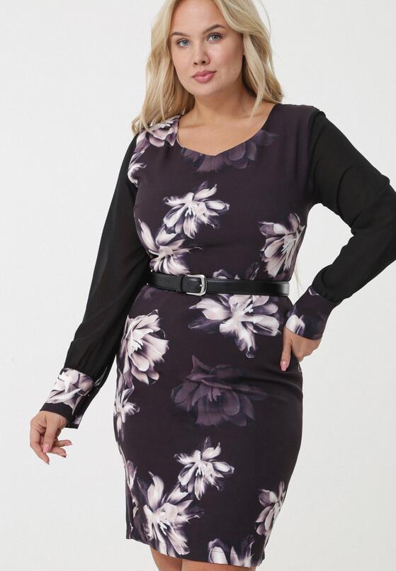 Czarna Sukienka Sandringham