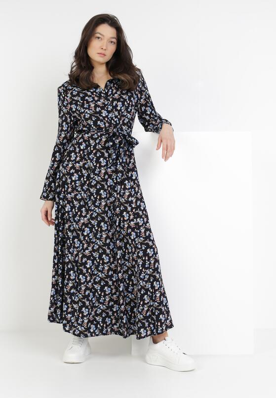Granatowa Sukienka Crestmead