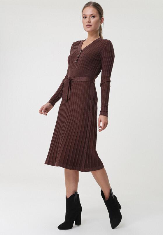 Brązowa Sukienka Bellara