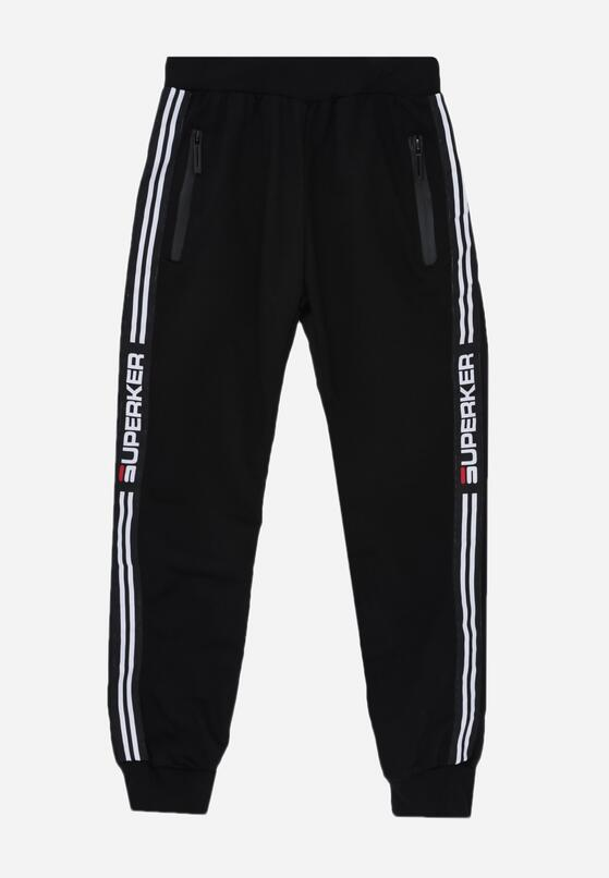 Czarne Spodnie Churton