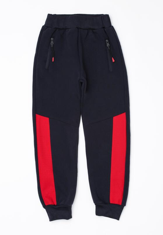 Granatowe Spodnie Butler