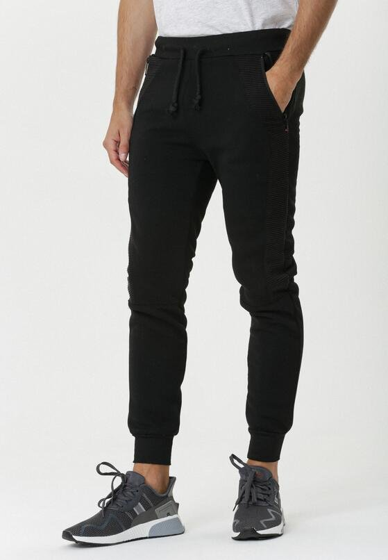 Czarne Spodnie Dresowe Eleebana