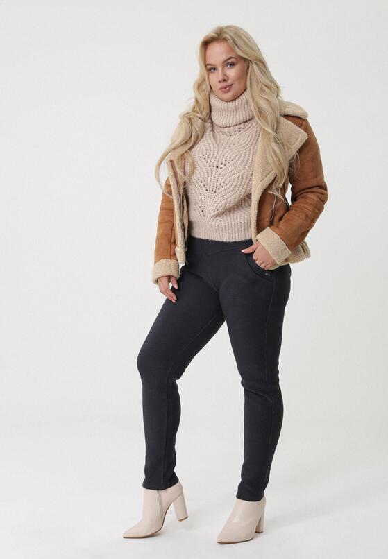 Granatowe Spodnie Redlynch