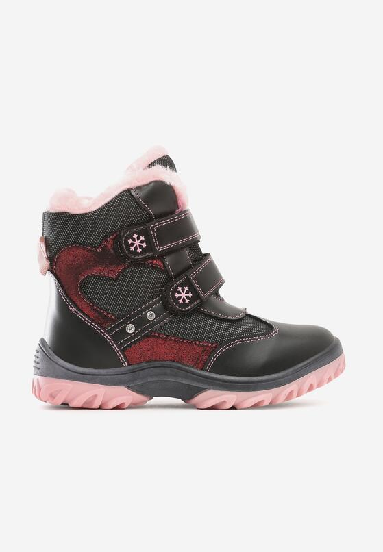 Czarno-Różowe Traperki Byberry