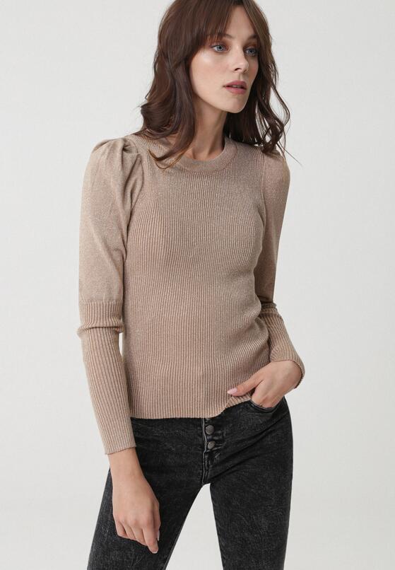 Ciemnobeżowy Sweter Warrane