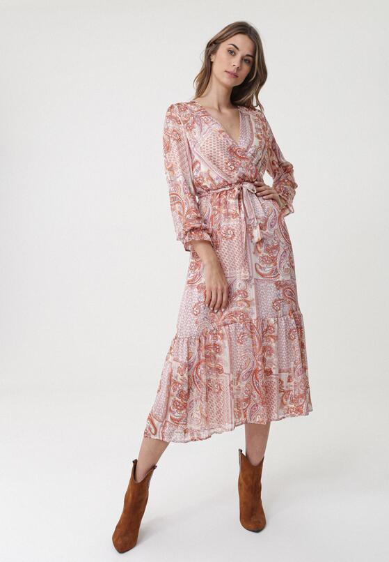 Łososiowa Sukienka Glandore