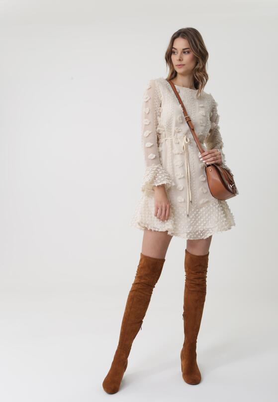 Kremowa Sukienka Eraring