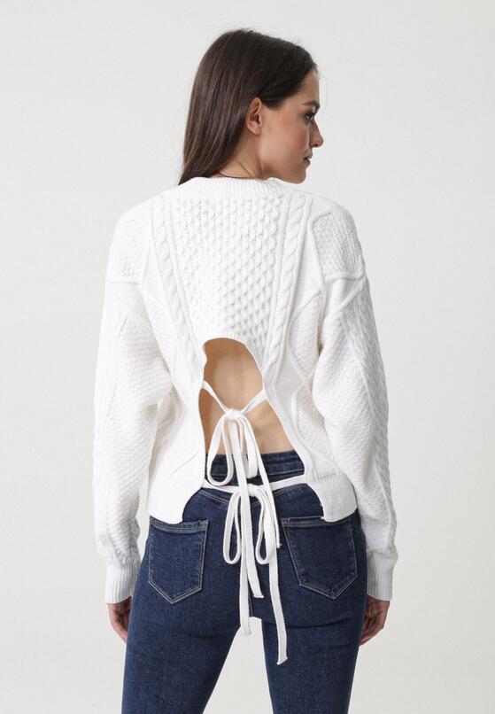 Biały Sweter Redlynch