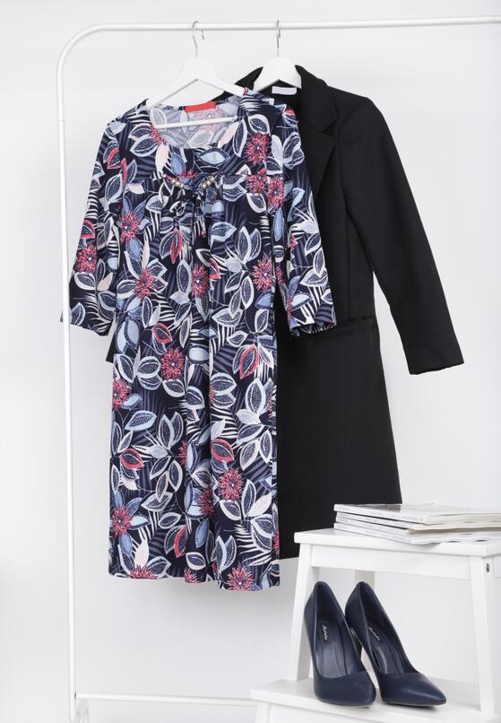 Ciemnoniebieska  Sukienka Phinney