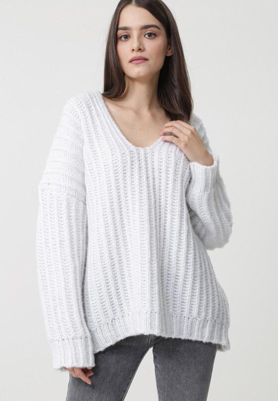 Biały Sweter Dudley