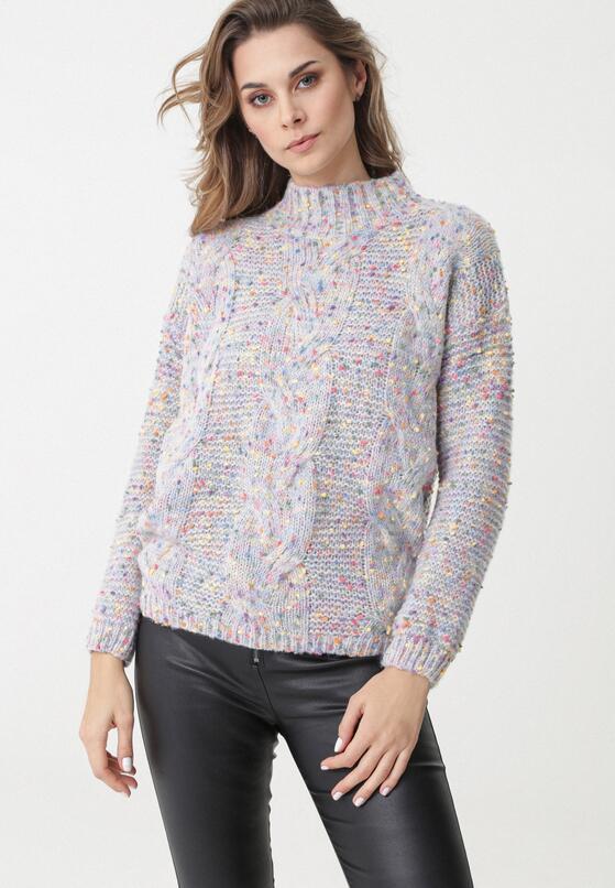 Biało-Niebieski Sweter Benicia