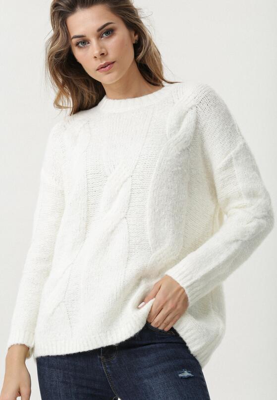 Biały Sweter Marin