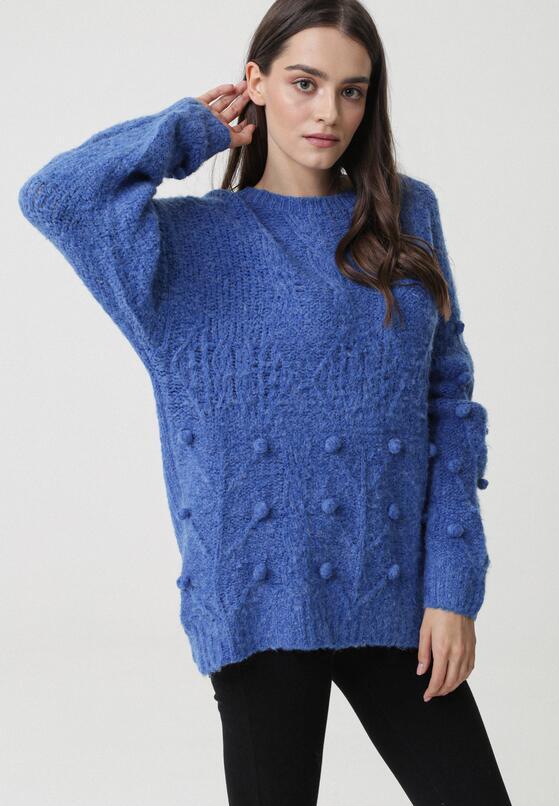 Niebieski Sweter Burlingame