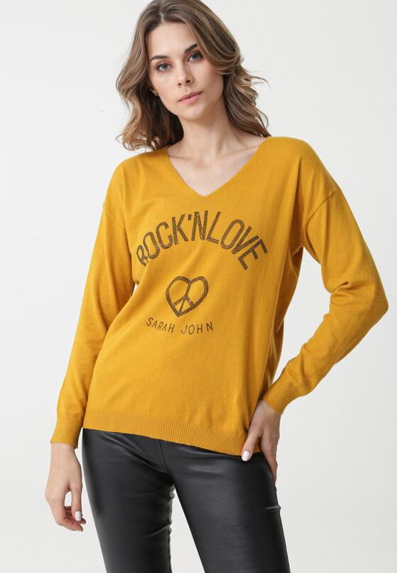 Żółty Sweter Crystal Brook