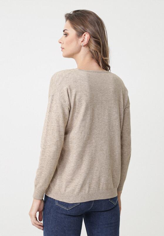Beżowy Sweter Crystal Brook