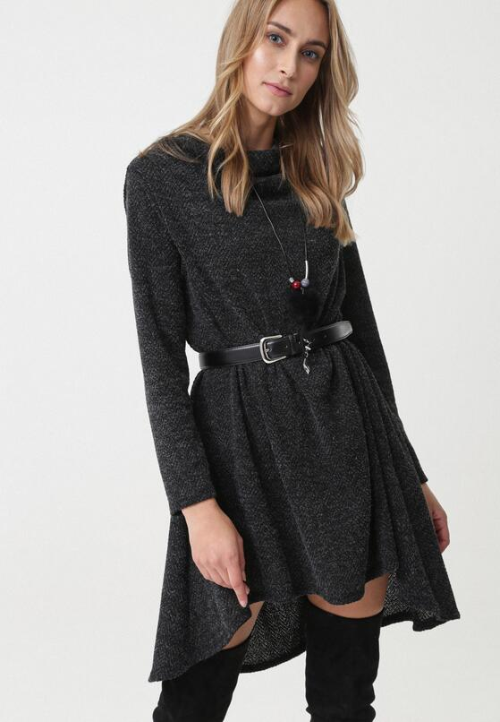 Czarna Sukienka Rideau