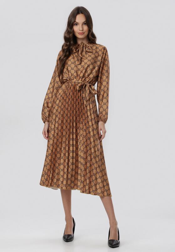 Camelowa Sukienka Caswell