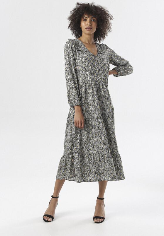 Czarno-Biała Sukienka Nive