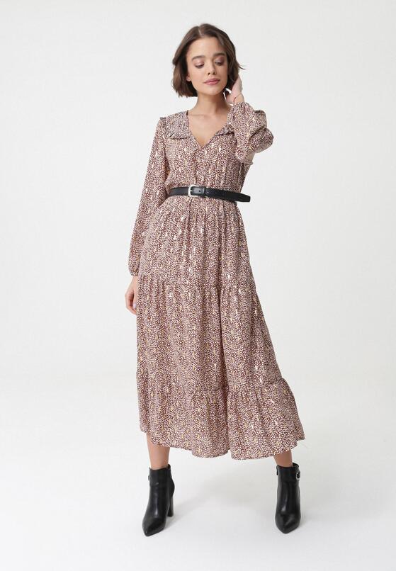 Brązowa Sukienka Nive