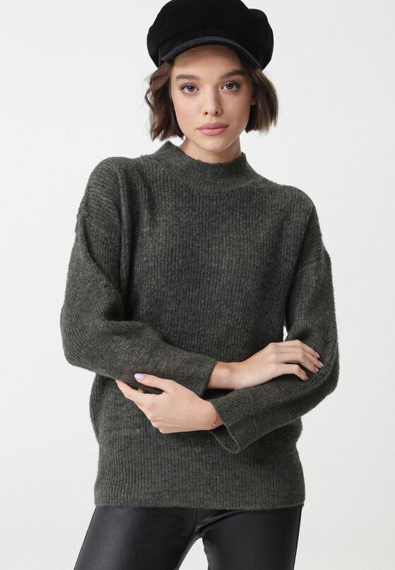Ciemnoszary Sweter Dromana