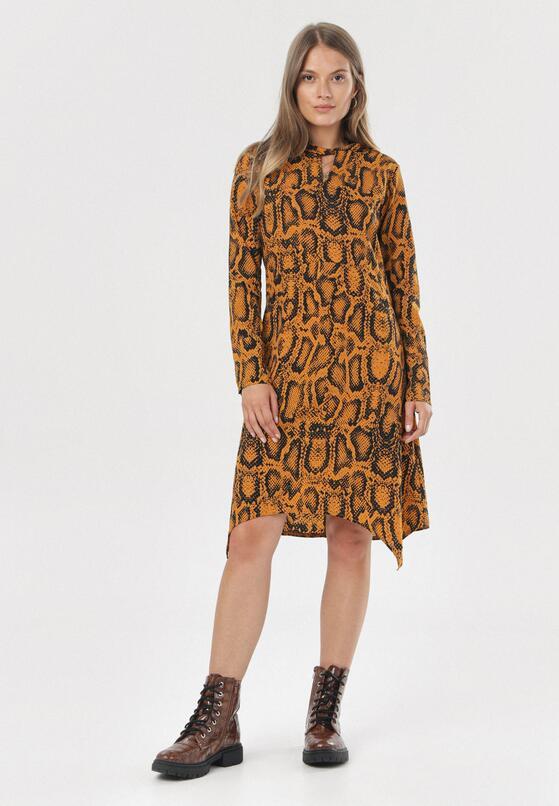 Żółta Sukienka Lamattra