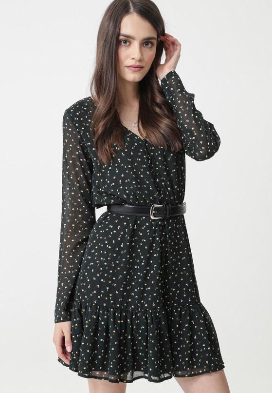 Ciemnozielona Sukienka Risdon