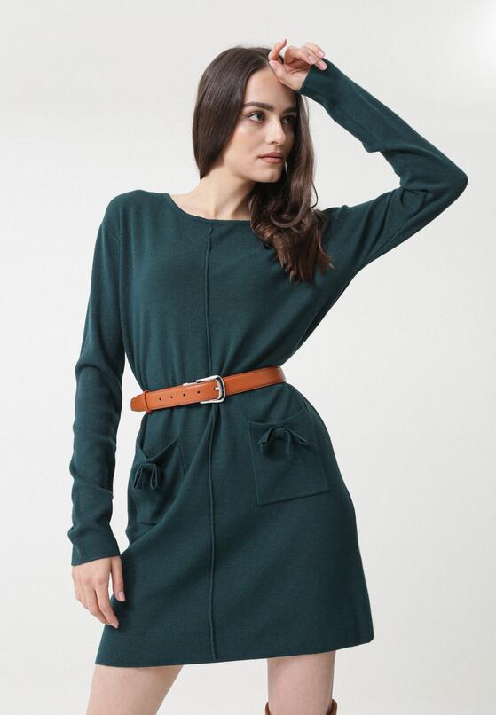 Ciemnozielona Sukienka Avina