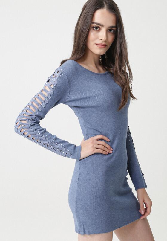 Granatowa Sukienka Nessa