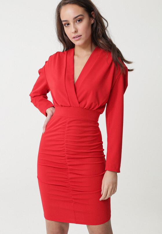Czerwona Sukienka Duosan